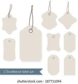 Blank labels set.