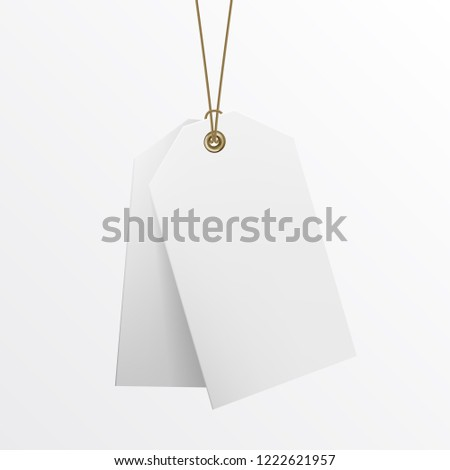 Blank Labels Template Price Tags Realistic Stock Vector Royalty