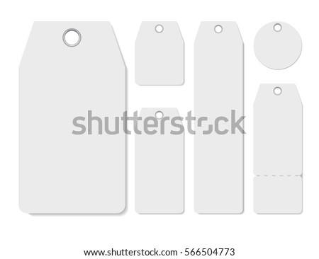 blank labels template price tags set stock vector royalty free