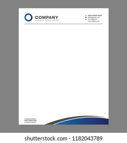 Blank Letterhead Template for Print with Logo