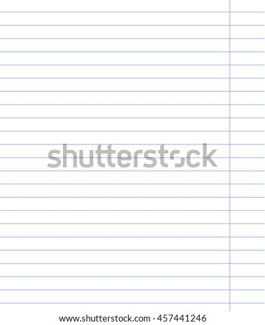 blank lined notebook sheet square lines stock vector royalty free