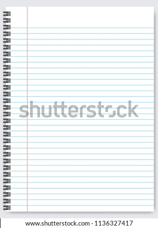 Blank Lined Paper Template One Page Stock Vector Royalty Free