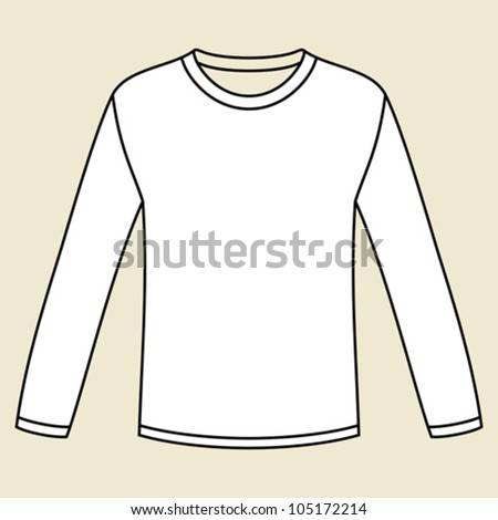Blank Long Sleeved T Shirt Template