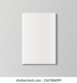 Blank Magazine Or Brochure Cover Isolated On White. EPS10 Vector