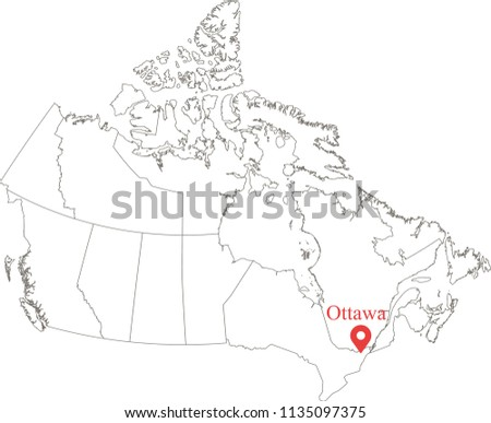 Blank Map Canada Provinces Territories Vector Stock Vector (Royalty ...