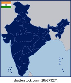 Blank Map of India