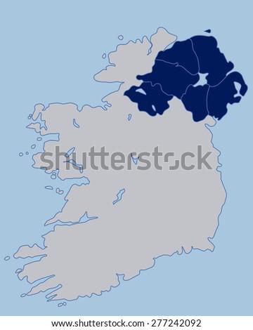 Blank Map Of Ireland.Blank Map Northern Ireland Stock Vector Royalty Free 277242092