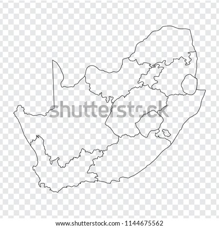 Blank Map South Africa High Quality Stock Vector (Royalty Free ...