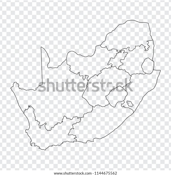 Blank Map South Africa High Quality Stock Vector (Royalty ...