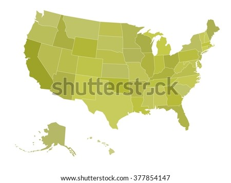 Blank Map United States America Vector Stock Vector Royalty Free