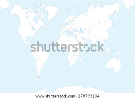 blank map of the world with countries