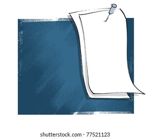 blank message card, freehand drawing, grunge background vector