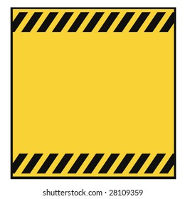 Blank Metallic Warning Template