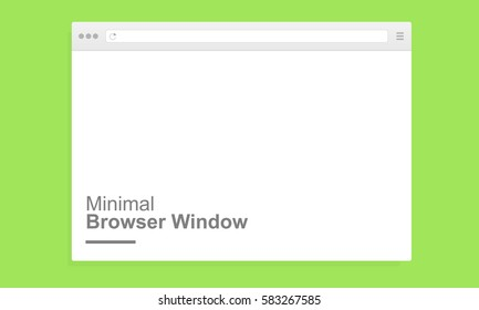 Blank minimal browser window for computer. Mockup for adaptive responsive web design. Vector illustration