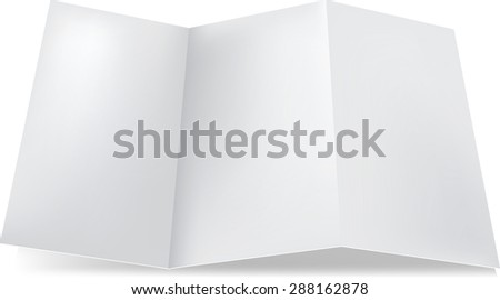 blank mock trifold flier brochure mock stock vector royalty free