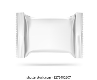 Blank mockup of flow pack. Vector illustration isolated on white background. It can be used in the adv, promo, package, etc. EPS10.