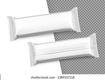 Blank mockup of snack bar. Vector illustration isolated on white background. It can be used in the adv, promo, package, etc. EPS10.