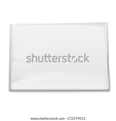 Blank Newspaper Template On White Background Stock Vector Royalty