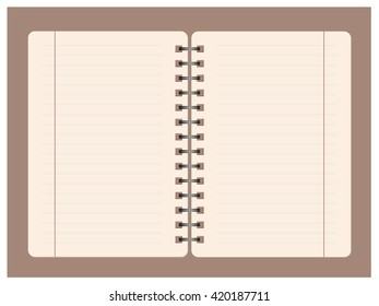 Blank notebook page with lined.