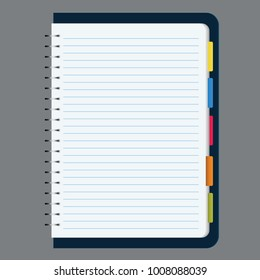 blank notebook vector illustration