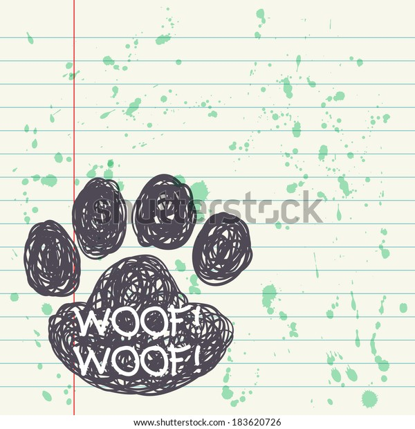 Blank Notepad Page Ink Blots Text Stock Vector (Royalty Free