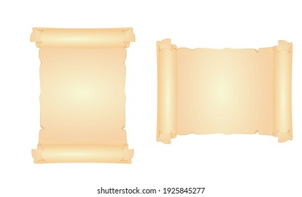Blank old paper template, empty space for text, vector