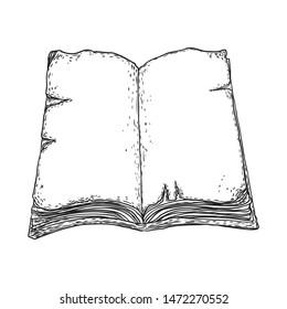 Engraving Open Book Images, Stock Photos & Vectors