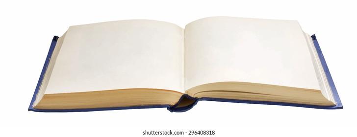 blank open book, vector