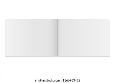 Blank open magazine template. brochure mockup cover