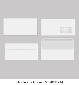 Blank of opened or closed envelope. Vector
