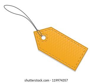 Blank orange sale tag