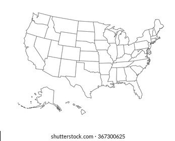 Usa Map Outline Vector Images, Stock Photos & Vectors ...