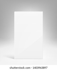 Blank packaging box mockup. Vector illustration. Ready for presentation your design, presentation, promo, adv. EPS10.