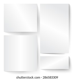 Blank paper banner illustration