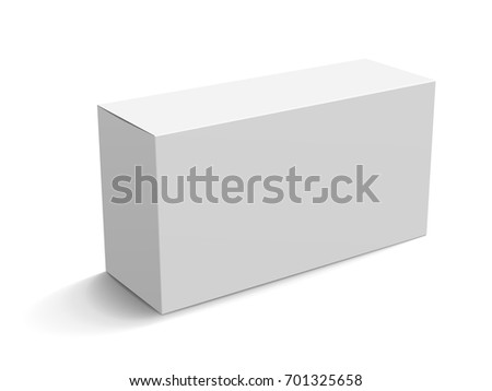 Blank paper box mockup white box stock vector royalty free blank paper box mockup white box template for design uses in 3d illustration elevated maxwellsz