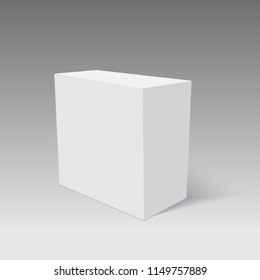 Blank paper or cardboard box packing. Vector.