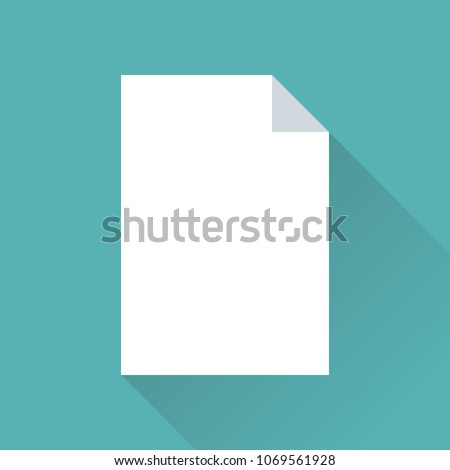 blank paper icon flat design diagonal のベクター画像素材