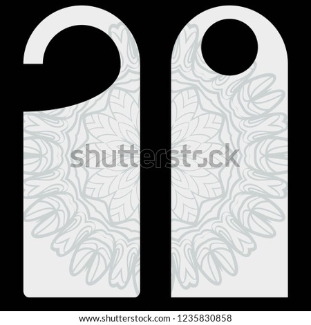 blank paper label door hanger design stock vector royalty free