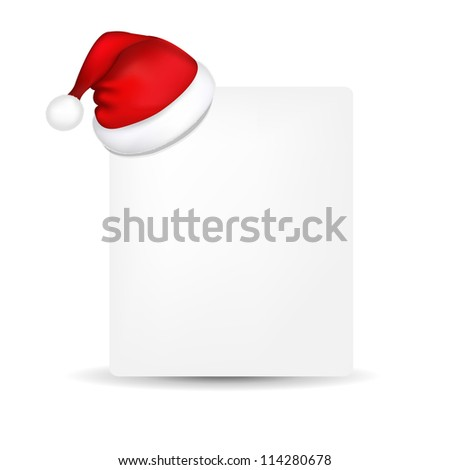 blank paper santa hat isolated on stock vector royalty free