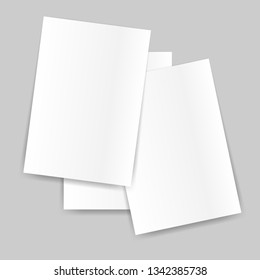 Blank of paper sheet on grey background.