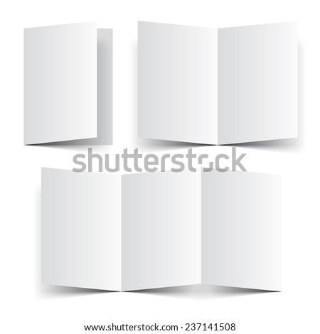 blank paper template booklet brochure leaflet stock vector royalty