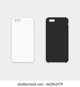 Blank phone case. Vector illustration