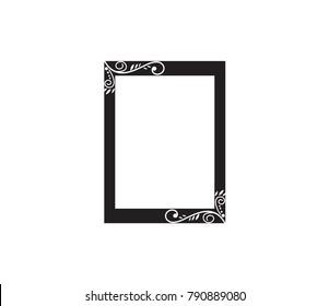 Blank photo of frame illustration