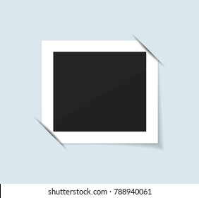 Blank photo frame isolated. Realistic Vector illustration.