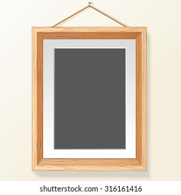 Blank Photo Frame on Wall. Ready for Your Text and Design.