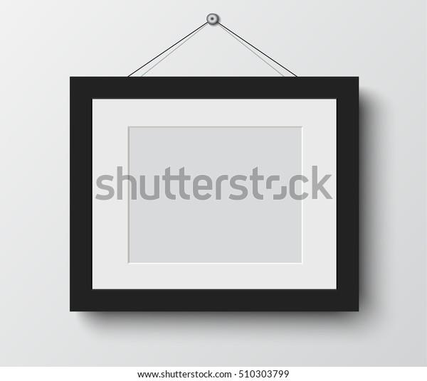 пустая фоторамка на стене. Дизайн для современной векторной иллюстрации интерьера