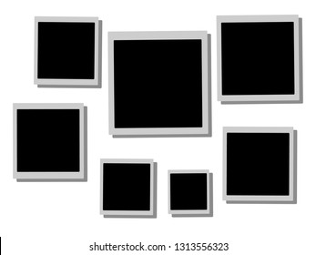 Blank photo frames collection empty space for your photograph and picture