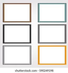 blank picture frame template set.
