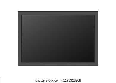 Blank Picture Frame or Tv Screen Isolated On White Background. Vector