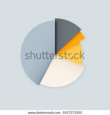 Blank Pie Chart Diagram Vector Infographics Stock Vector Royalty